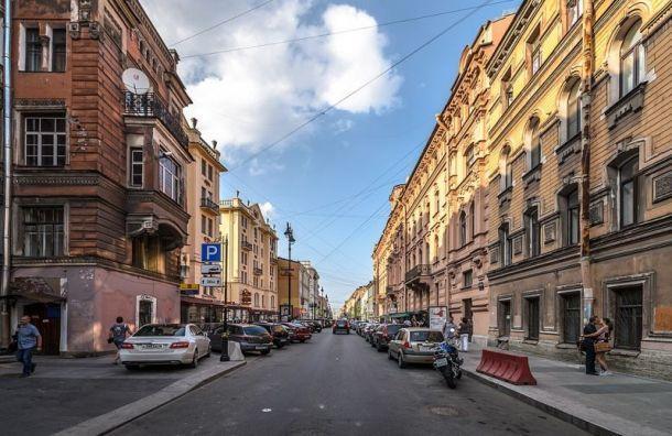 Улица Рубинштейна станет пешеходной повыходным