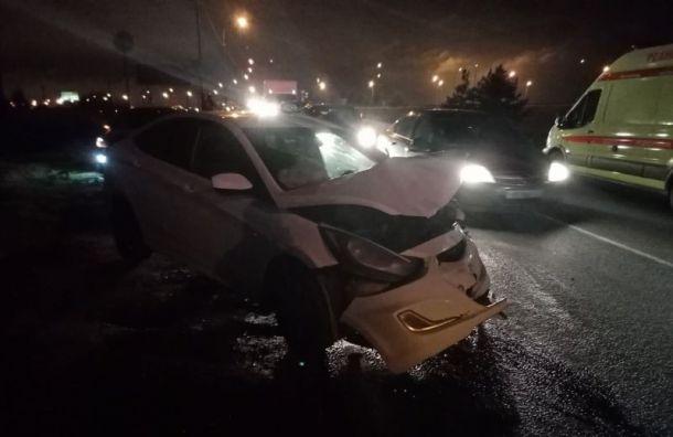 Водитель Ford сбежал сместа ДТП после столкновения сHyundai