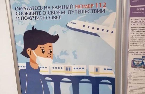 Власти Петербурга рисуют плакаты окоронавирусе согромной ошибкой