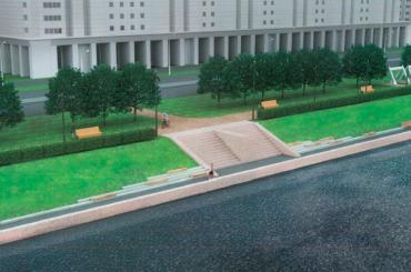 Сквер наНовосмоленской набережной благоустроят коктябрю 2021 года