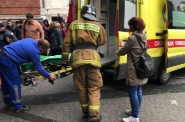 Медики спасли загоревшегося мужчину уТРК «Галерея»