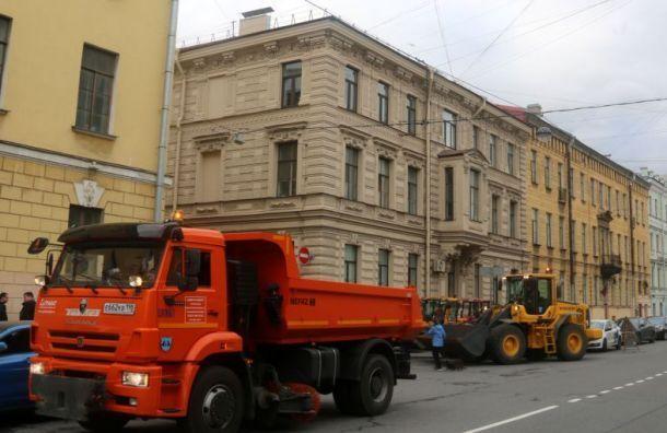 Дорожники сообщили оготовности кснегопаду вПетербурге