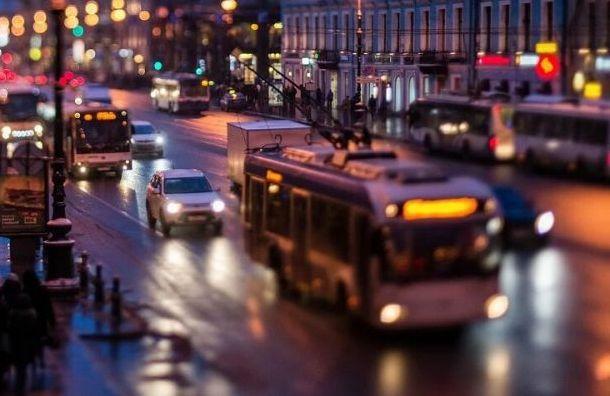Выделенные полосы для автобусов появятся наНевском проспекте