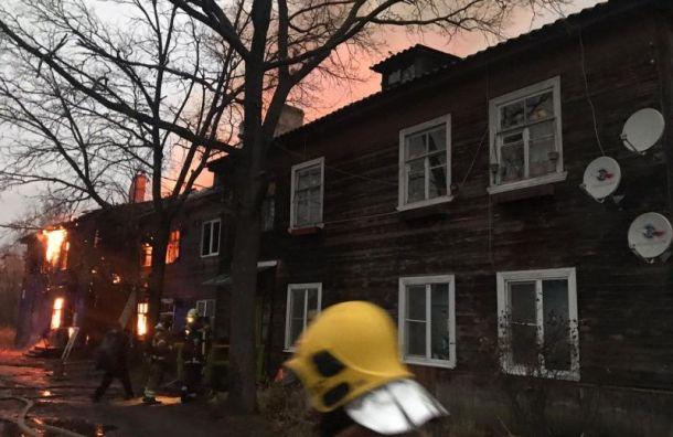 Женщина погибла вкрупном пожаре вКрасном Бору
