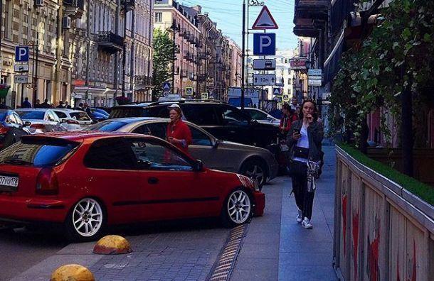 Первые знаки платной парковки появились наРубинштейна