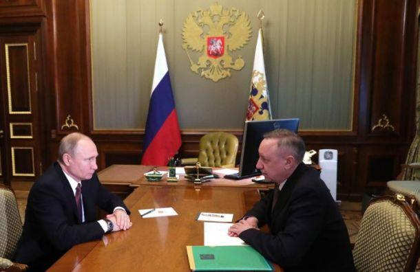 Беглов доложил Путину оситуации скоронавирусом вПетербурге