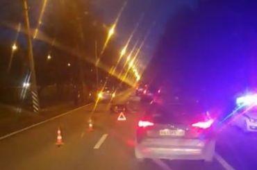 Водитель задавил лося наПриморском шоссе