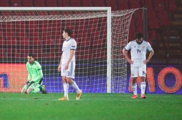 Сборная Сербии уничтожила Россию врешающем матче Лиги наций