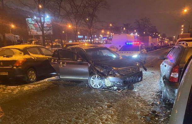 Пьяный водитель попытался уйти отполицейской погони вКупчине