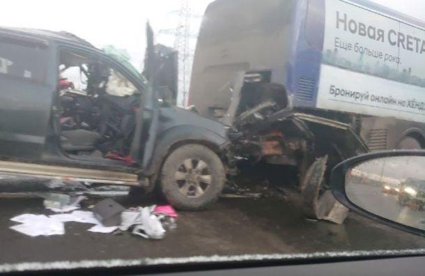 Массовая авария насевере КАД унесла жизнь одного человека