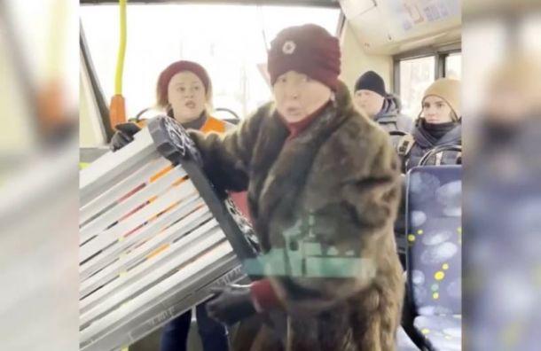 Лолита Милявская пыталась перевезти скамейку вавтобусе