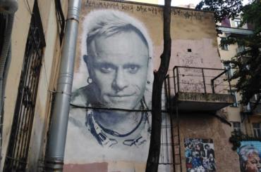 Граффити слидером The Prodigy Китом Флинтом пытаются спасти вПетербурге