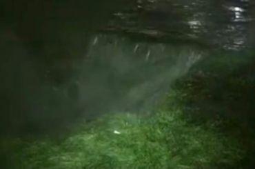 Водопад изканализации образовался вЖК «Новая Охта»