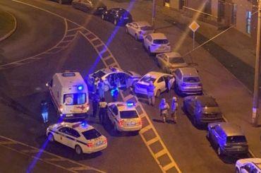 НаМедиков таксист устроил ДТП ибегал отполицейских