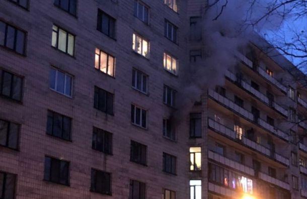 Сотрудники МЧС спасли изгорящей квартиры вВяземском переулке двух человек