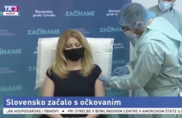 Президент Словакии привилась вакциной откоронавируса