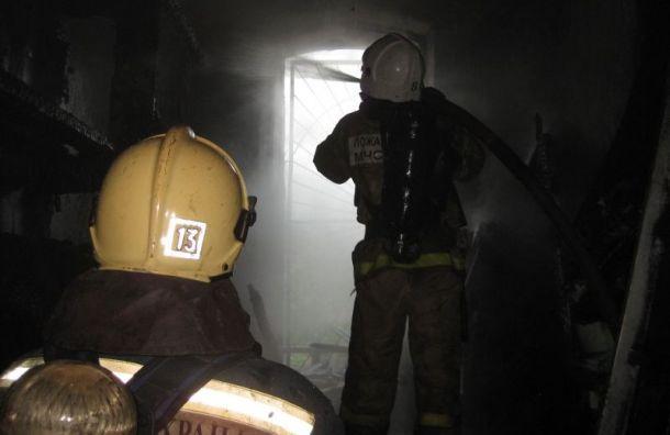 Пожарные почти пять часов тушили загоревшуюся коммуналку наГончарной