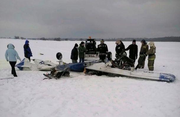 Самолет потерпел крушение при взлете вГостилицах