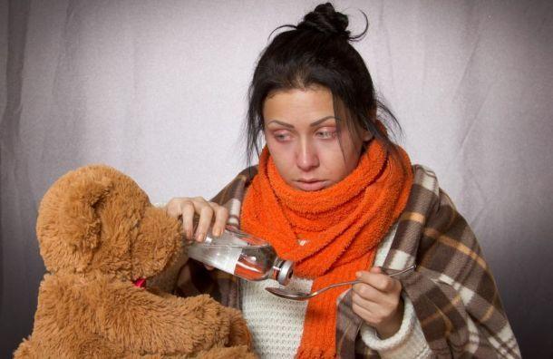 Спрошлой недели вПетербурге растет заболеваемость гриппом иОРВИ