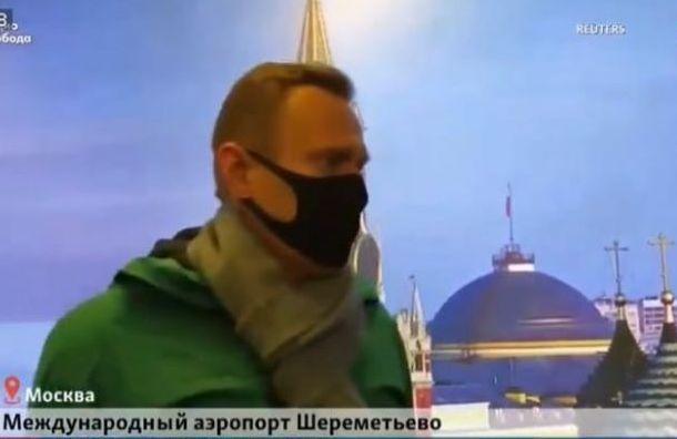 Навальный: «Ясовершенно счастлив, что прилетел»