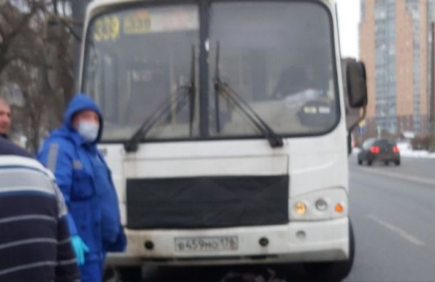 Перебегавшая дорогу старушка попала под маршрутку наБелы Куна