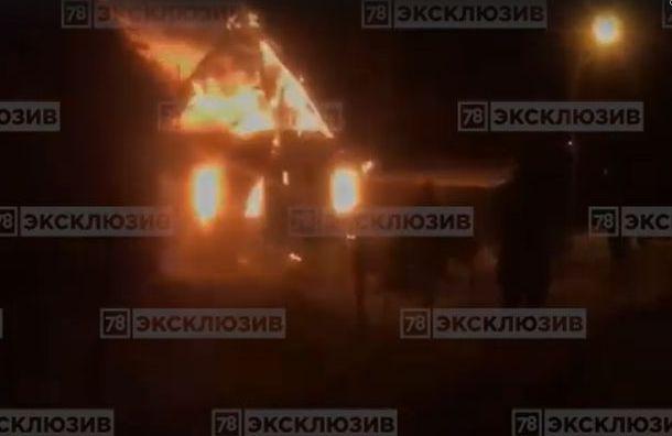 Одноэтажный дом сгорел дотла вГатчинском районе