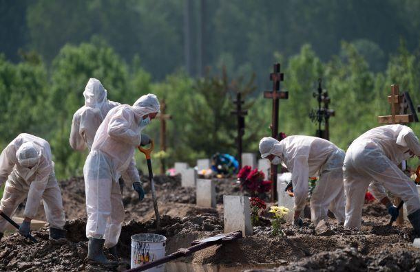 Подтверждено 58 новых смертей откоронавируса вПетербурге