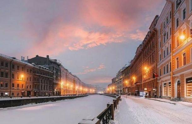 Морозы возьмут паузу после самой холодной зимней ночи вПетербурге