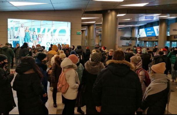 Аэропорт Внуково заполонили юные фанаты певицы Ольги Бузовой