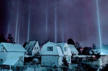Уличные фонари под Всеволожском превратились встолбы света