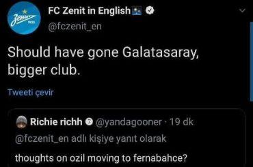 Турецкие фанаты вынудили «Зенит» удалить шутливый пост