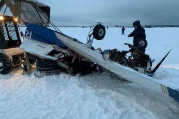 СКвозбудил дело пофакту крушения легкомоторного самолета под Петербургом