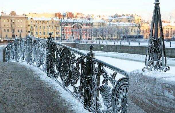 Петербург всреду ждет легкий морозец