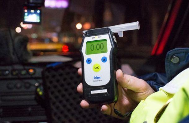 Напраздничных выходных вПетербурге поймали 150 пьяных водителей