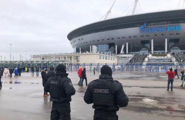Полицейские задержали 44 человека вовремя матча «Зенит»— «Ростов»