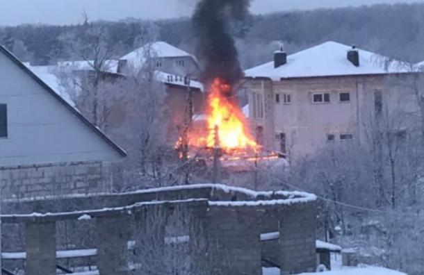 В Красном Селе сгорел частный дом