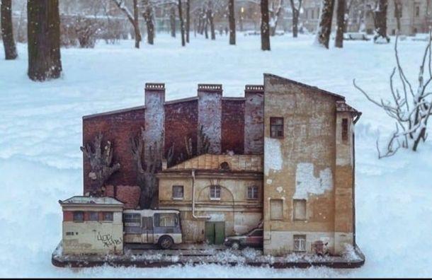 Художница создала набор конструктора снепарадным Петербургом