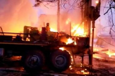 Более 70 зданий вКолпине остались без газа из-за взрыва ипожара
