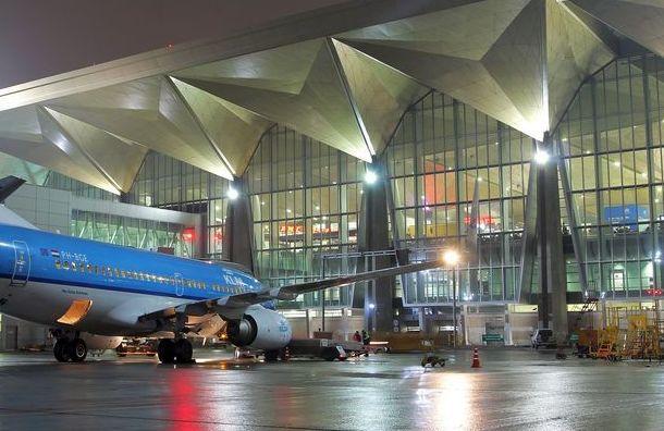 Самолет временно ослепил фарами сотрудника аэропорта Пулково