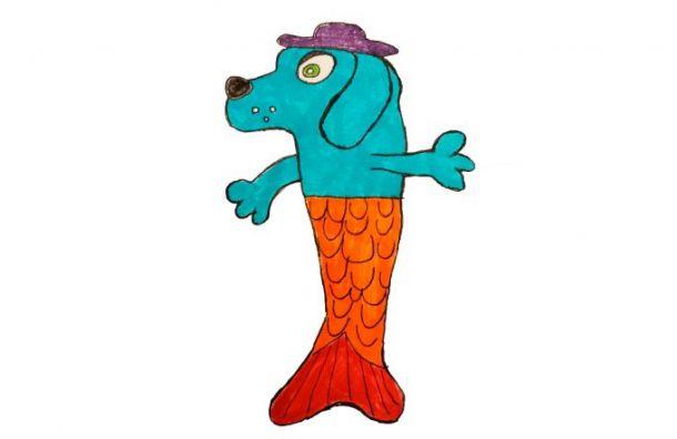 Собака-русалка девятилетнего Саввы изПетербурга будет продаваться повсему миру
