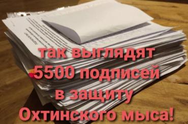 Активисты собрали 5500 подписей засохранение Охтинского мыса