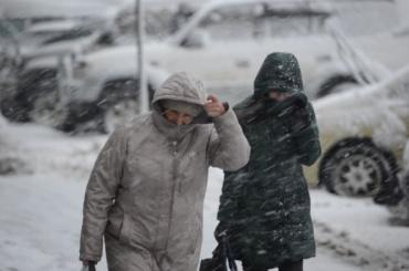 Снег и сильный ветер не собираются уходить из Петербурга