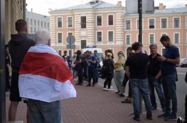Четверых белорусских активистов арестовали вПетербурге занезаконную акцию