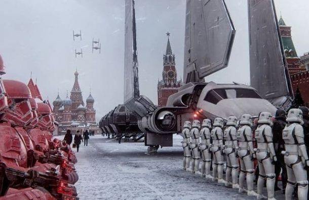 Петербургский художник создал видео России будущего со штурмовиками из Звездных войн