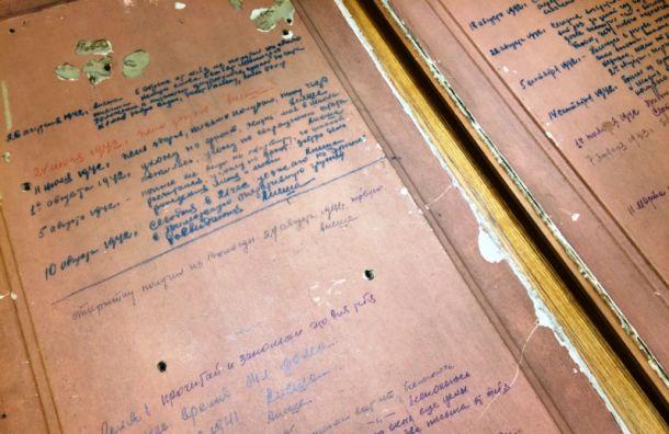 Блокадный дневник надверях квартиры представят вособняке Румянцева