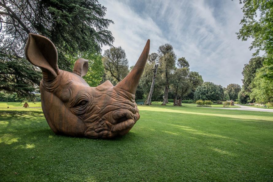 Стефано Бомбардьери. Голова  носорога. 2018.jpg
