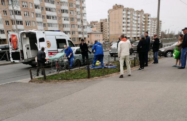 Усломанного светофора наГатчинском шоссе сбили ребенка