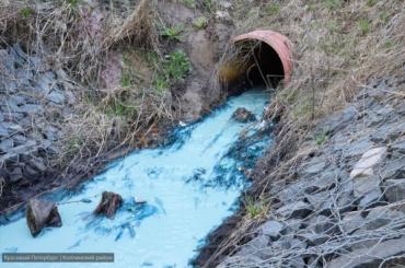 ВМеталлострое течет синяя река