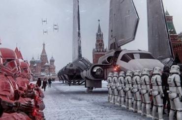 Петербургский художник создал видео России будущего соштурмовиками из«Звездных войн»