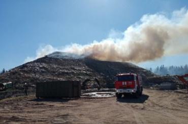 ВВолосове загорелся мусорный полигон